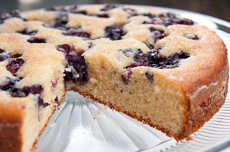 Blueberry-Lemon Cornmeal Cake